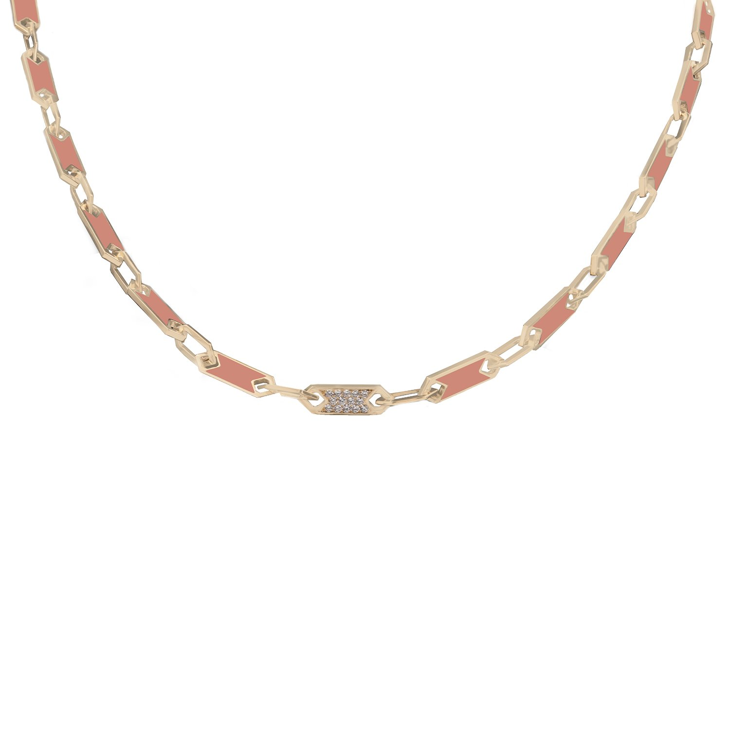 ROSE NECKLACE IN LIGHT TURQUOISE