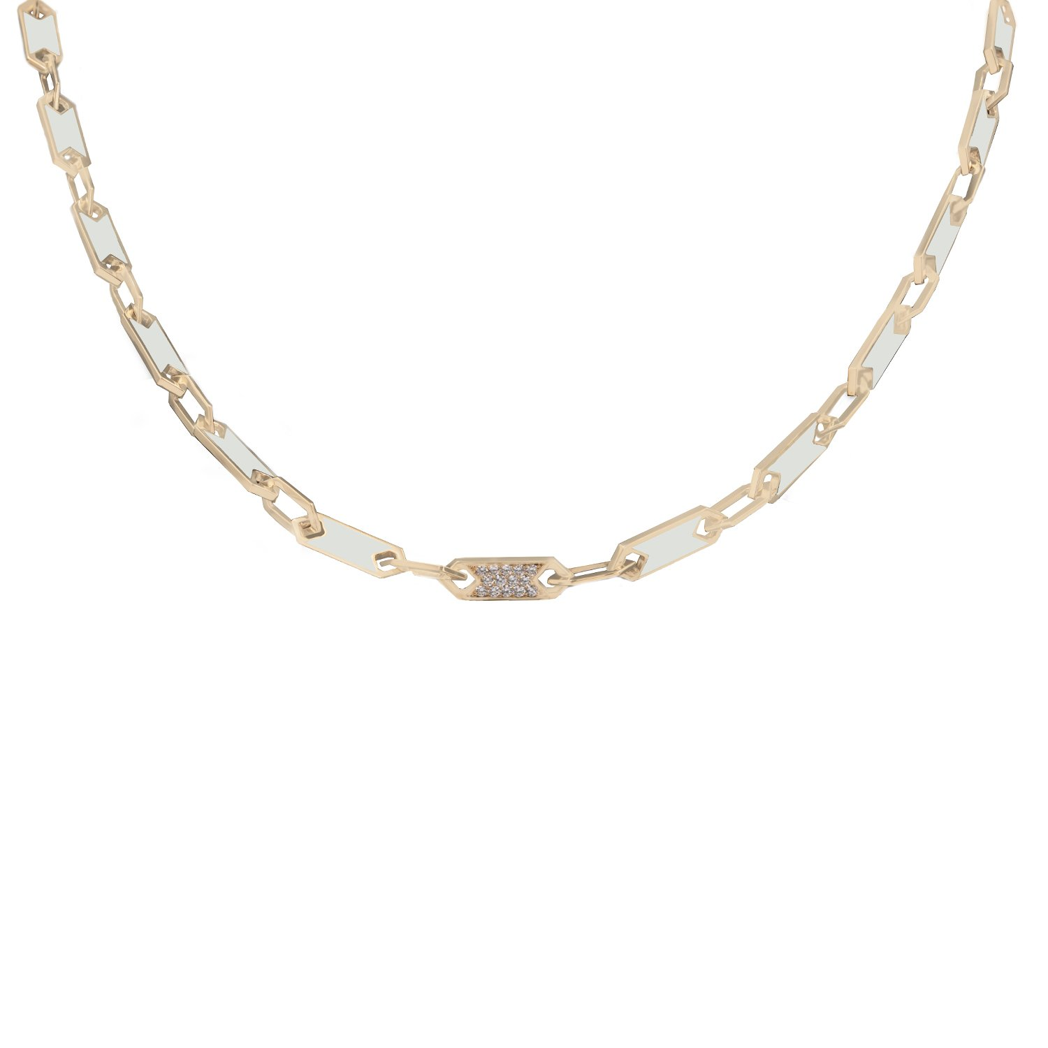 ROSE NECKLACE IN MOTHER OF PEARL
